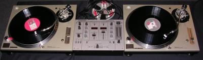 tocadiscos mk2 e mixer